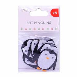 Simply Creative huopapingviinit tarralla 6kpl