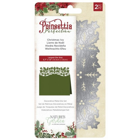 Crafter's Companion stanssi Poinsettia Perfection Christmas Ivy