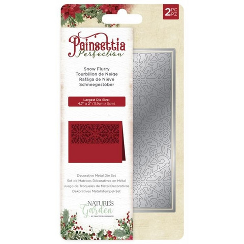 Crafter's Companion stanssi Poinsettia Perfection Snow Furry