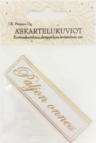 JK tekstikyltit  Pajon Onnea kulta 2968