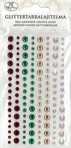 JK Primeco timantinpuolikastarrat punainen/vihreä 2456