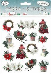 Tarra-arkki joulukuvat Lyhdyt ja kukat