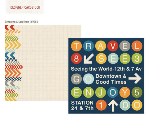 Simple Stories paperi Urban Traveler Downtown & Goodtimes 12x12