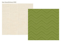 Simple Stories paperi Urban Traveler Green Chevron / Dictionary 12x12