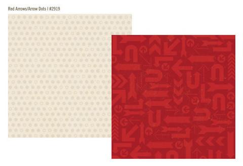 Simple Stories paperi Urban Traveler Red Arrows / Arrow Dots 12x12