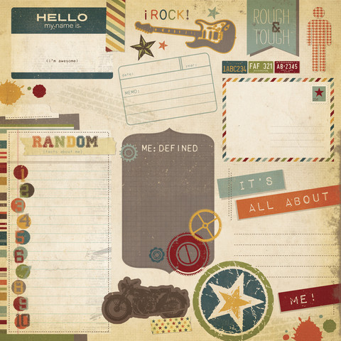 Simple Stories paperi Awesome So Random 12x12