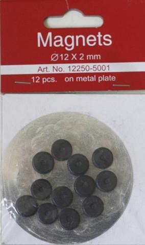 Magneettinapit 12x2mm 12kpl