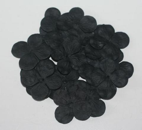 Paperikukat hortensiat musta 20kpl