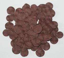 Paperikukat hortensiat ruskea 20kpl