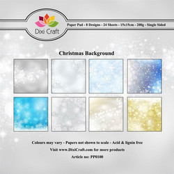 Dixi Craft paperikko Christmas background 6x6