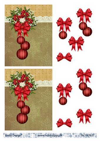 BD 3d-kuva joulupallot ja koristeet taustalla 067631