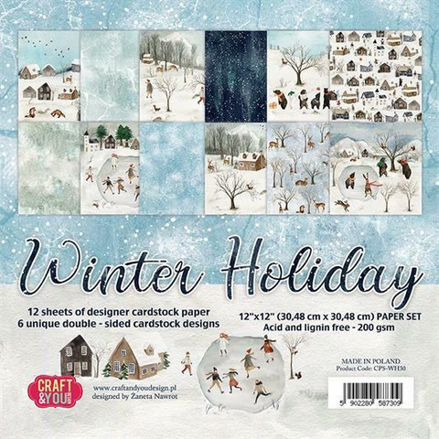 Craft&You paperikko Winter Holiday 30,5x30,5cm