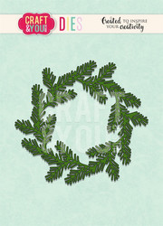 CRAFT & YOU stanssi havukranssi Conifer Wreath CW093