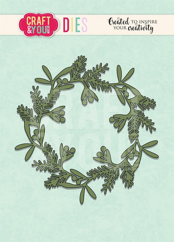 CRAFT & YOU stanssi havu/marjakranssi Mixed Wreath CW094