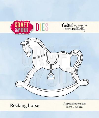 CRAFT & YOU stanssit keinuhevonen Rocking horse CW064