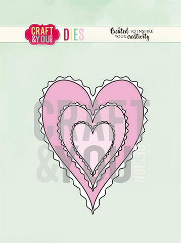 CRAFT & YOU sydänstanssit hearts CW082