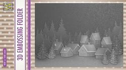 NS Kohokuviointitasku Snowy Village 105x148mm