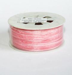 Organzanauha vaaleanpunainen 7mm/25metriä