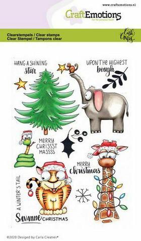 CraftEmotions kirkkaat leimasimet A6 Savanne Christmas