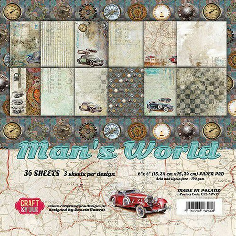 Craft & You Man´s world paperikko 6x6