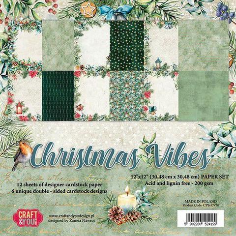 Craft & You paperikko Chrstmas Vibes 12x12