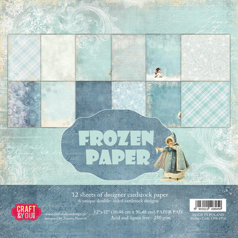 Craft & You paperikko Frozen 12x12