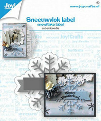 Joy Crafts stanssi lumihiutalebanneri Snowflake label