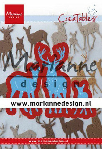 Marianne Design stanssit Creatable Tiny's Deer Family LR0615