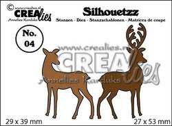 Crealies Silhouetzz peurastanssit 2kpl CLSH04