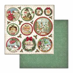 Stamperia korttikuvat Classic Christmas rounds 12x12