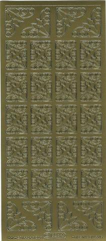 Ääriviivatarra koristekulmat kulta 1226