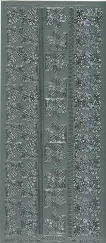 Ääriviivatarra joulukulmat hopea 8522