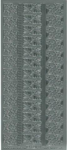 Ääriviivatarra tähtikulmat hopea 8521