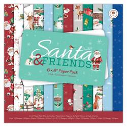 Papermania joulupaperikko Santa & Friends  6x6