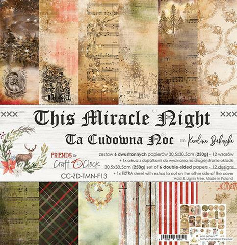 Craft O´Clock This Miracle Night paperisetti 30,5x30,5cm 6kpl