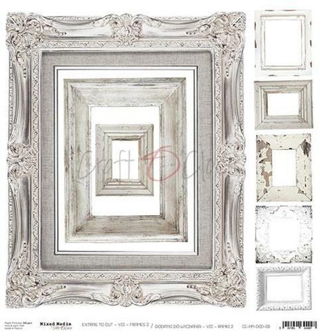 Craft O´Clock Mixed Media kehykset Extras to cut 08 30,5x30,5cm