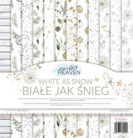 Paper Heaven White as Snow paperisetti 30,5x30,5cm 12kpl