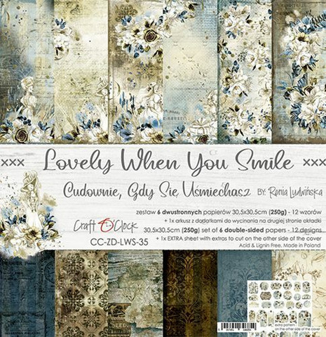 Craft O´Clock Lovely When You Smile paperisetti 30,5x30,5cm 6kpl