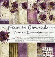 Craft O´Clock Plum in Chocolate paperisetti 30,5x30,5cm 6kpl
