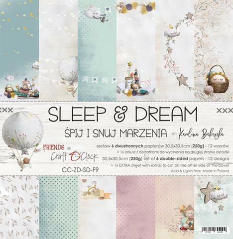 Craft O´Clock Sleep & Dream paperisetti 30,5x30,5cm 6kpl