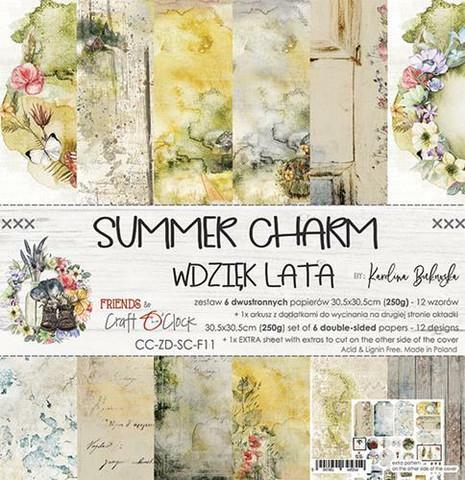 Craft O´Clock Summer Charm paperisetti 30,5x30,5cm 6kpl