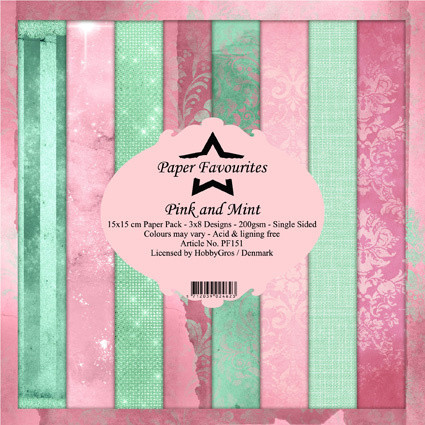 HG paperikko Pink & Mint 6x6
