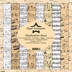 HG paperikko Handwritten music 6x6