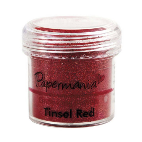 Papermania kohojauhe Tinsel Red