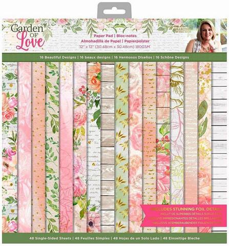 Crafters Companion paperilehtiö Garden of love 12x12