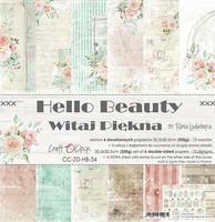 Craft O´Clock Hello Beauty paperisetti 30,5x30,5cm 6kpl
