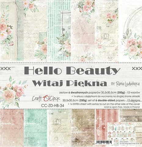 Craft O´Clock Hello Beauty paperisetti 30,5x30,5cm 6kpl