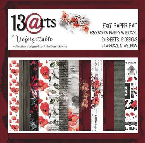 13arts paperikko Unforgettable 6x6