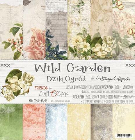 Craft O´Clock Wild Garden paperisetti 30,5x30,5cm 6kpl