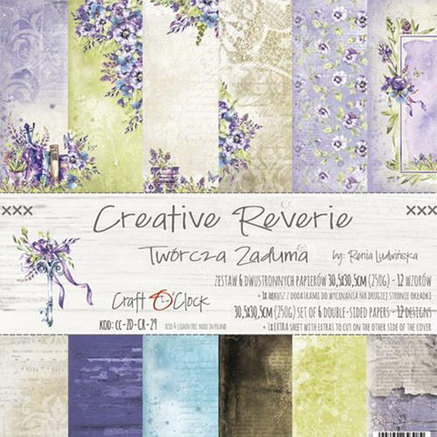 Craft O´Clock Creative Reverie paperisetti 30,5x30,5cm 6kpl